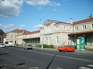 railway station in Děčín, Czech Republic