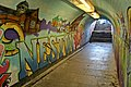 Decorated underpass, Neston railway station (geograph 3800406).jpg