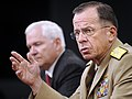 Defense.gov News Photo 100708-F-6655M-006 - Secretary of Defense Robert M. Gates and Chairman of the Joint Chiefs of Staff Adm. Mike Mullen hold a press conference in the Pentagon in.jpg