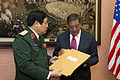 Defense.gov News Photo 120604-D-BW835-010 - Secretary of Defense Leon E. Panetta accepts letters written by American service members from Vietnamese Minister of National Defense Senior Lt. Gen.jpg