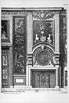 detail interieur, reproductie van tekening in bezit van archief - apeldoorn - 20023622 - rce