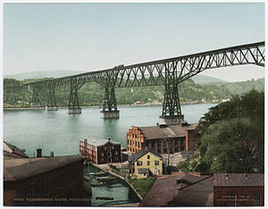 Walkway over the Hudson - Poughkeepsie Bridge ca. 1900