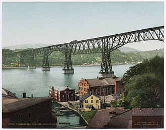 Poughkeepsie, New York - Poughkeepsie Bridge ca. 1900