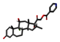 Dexamethasone isonicotinate 3D skeletal.png