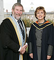 Diarmuid Hegarty, President of Griffith College with Mary McAleese, President of Ireland.jpg