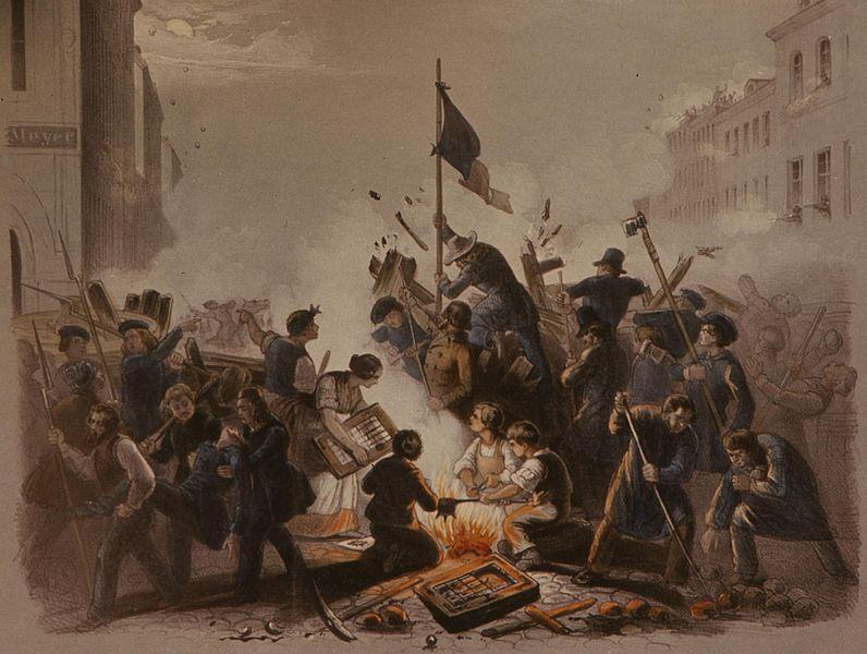 File:Die Barrikade an der Kronen- und Friedrichstraße in Berlin am 18. März 1848.jpg