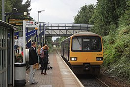 Digby and Sowton - fGWR 143619 arriving from Exmouth.JPG