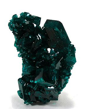 Tsumeb - Gem-quality dioptase crystals from the Tsumeb mine, source of many of the world's best (and most expensive) dioptase specimens.