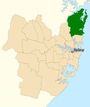 Division of Mackellar - Division of Mackellar in New South Wales, as of the 2016 federal election.