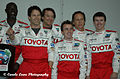 Djimon Hounsou, Stephen Moyer, Frankie Muniz, William Fichtner, Toyota Grand Prix Celebrity Race 2011.jpg