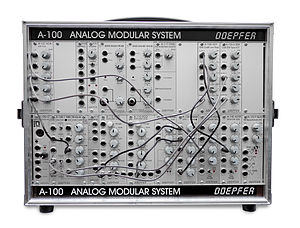 Doepfer A-100 - A Doepfer A-100 in a P6 suitcase enclosure
