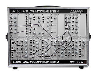 Doepfer A-100 Modular synthesizer, introduced the Eurorack standard