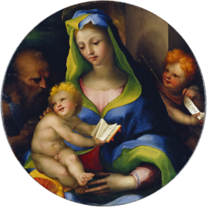 The Virgin and Child with the Infant Saint John and Saint. Jerome