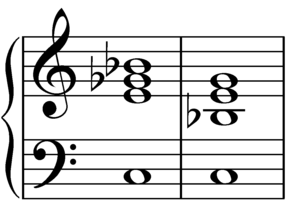 Dominant seventh flat five chord - Image: Dominant seventh flat five chord on C