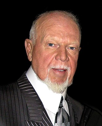 "National Hockey League - Don Cherry, ""Coach's Corner"" commentator on Hockey Night in Canada on CBC"