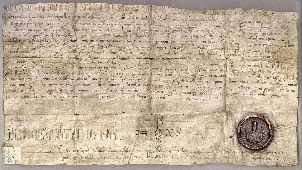 Donation du roi de Bourgogne Rodolphe III à l'abbaye Saint-Maurice (15 février 1018)