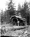 Donkey engine and crew, camp 4, Coats-Fordney Lumber Company, near Aberdeen, ca 1920 (KINSEY 1899).jpeg