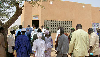 Dosso, Niger - Officials at the opening of the regional maternity hospital, 2008