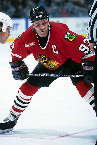 Doug Gilmour - Gilmour playing with the Chicago Blackhawks