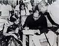 Dr. Ambedkar with the marriage register at the wedding of S. G. Uke at New Delhi.jpg