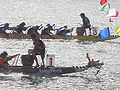 Dragon boats crossing finish line at 2008 SFIDBF 04.JPG