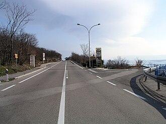 D8 road (Croatia) - D8 state road near Dramalj