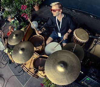 David Keith (drummer) - David Keith, playing drums with Blackmore's Night, 2015