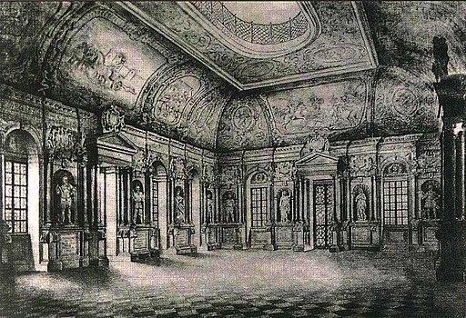 Dresden Erstes Belvedere Innen Friedrich von Hagedorn