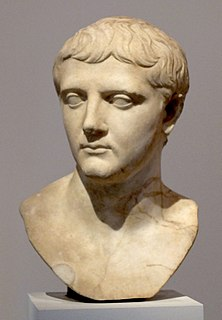 Nero Claudius Drusus Roman politician and soldier, son of Tiberius Nero and Livia
