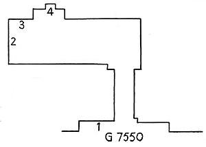 Duaenhor - Plan of Duaenhor's tomb in Giza