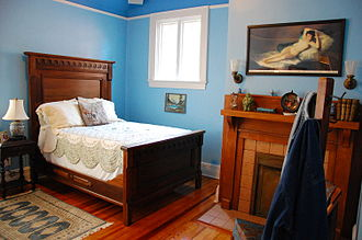The Allman Brothers Band Museum - Duane Allman's bedroom in 2010, decorated similarly to the way it was in 1970 (by Linda Oakley, then and now)