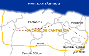 Duchy of Cantabria - Approximate limits of the Duchy of Cantabria