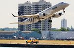 EI-RND Alitalia Cityliner Embraer ERJ-190 take off at London City Airport.jpg