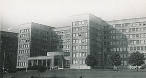 United States European Command - EUCOM headquarters in the IG Farben Building, Frankfurt, 1952