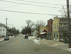 Looking east in downtown Eagle