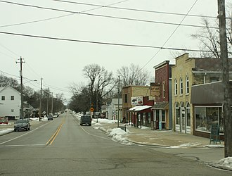 Eagle, Wisconsin - Image: Eagle Wisconsin Downtown Looking East County NN