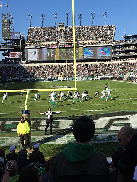 Lincoln Financial Field during week 10 of the 2015 NFL Season featuring the Miami Dolphins against the Philadelphia Eagles. EaglesVsDolphinsNov15.jpg