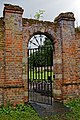 Easton Lodge Gardens, Little Easton, Essex, England ~ walled garden northeast gate.jpg