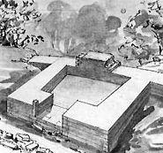 Eckturm des Römerkastells Köngen von General Eduard von Kallee
