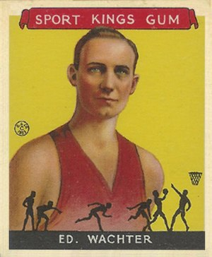 Ed Wachter - Ed Wachter 1933 Goudey Sport Kings basketball card.