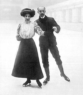 Edgar Syers - Madge and Edgar Syers at the 1908 Olympics.