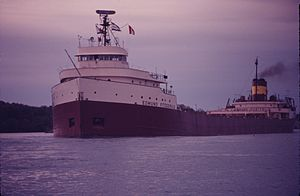 SS Edmund Fitzgerald underway, photo by Winston Brown