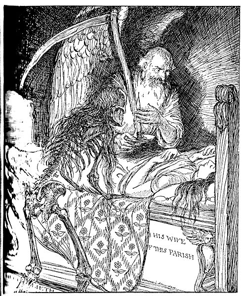 Fichier:Edmund J Sullivan Illustrations to The Rubaiyat of Omar Khayyam First Version Quatrain-022.jpg