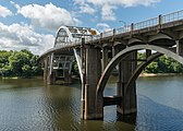 Edmund Pettus Bridge, Selma AL, North view 20160713 1.jpg
