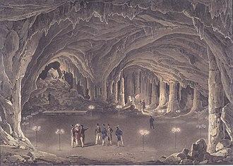 Eduard Gurk - Image: Eduard Gurk Der große Dom in der Adelsberger Grotte ca 1834