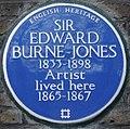 Edward Burne-Jones 41 Kensington Square blue plaque.jpg