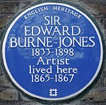 Edward Burne-Jones 41 Kensington Square blue plaque.jpg