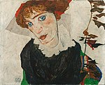 Egon Schiele - Portrait of Wally Neuzil - Google Art Project.jpg