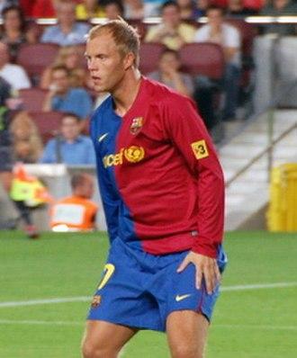 Eiður Guðjohnsen - Eiður Smári playing for Barcelona in 2008