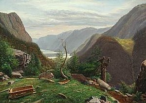 Eiler Rasmussen Eilersen - Mountain Landscape with View of the Sea